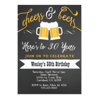 50th birthday invitations announcements zazzle au cheer and beers birthday party invitation for men filmwisefo