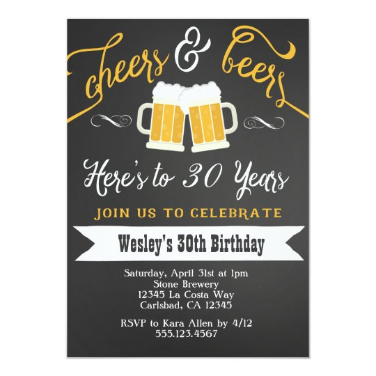 Cheer and beers birthday party invitation for men zazzle cheer and beers birthday party invitation for men stopboris Choice Image