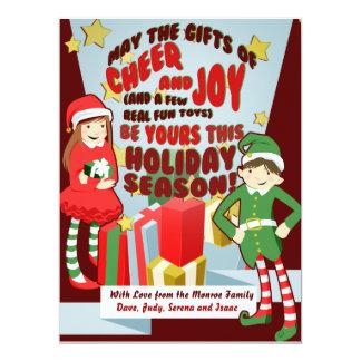Cheer and Joy Holiday Cards 17 Cm X 22 Cm Invitation Card