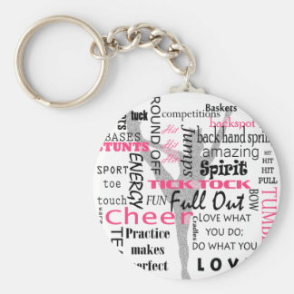 Cheer Basic Round Button Key Ring