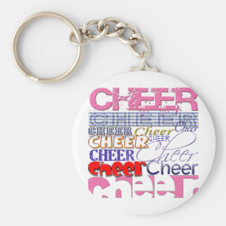 Cheer CHEERLEADER Cheer Basic Round Button Key Ring