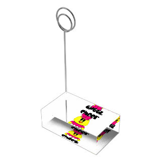 Cheer Chick Cheerleader Table Card Holder