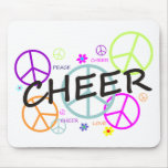 Cheer Coloured Peace Signs Mouse Pad