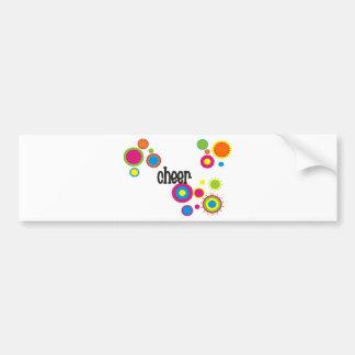 Cheer Cool Polka Dots Bumper Sticker
