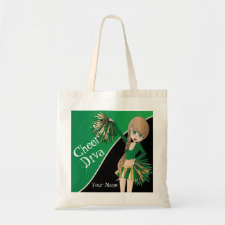 Cheer Diva Green Cheerleader Tote Bag