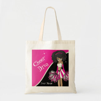 Cheer Diva Pink Cheerleader Girl Tote Bag