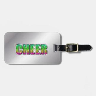 Cheer Glitter Rainbow Luggage Tag