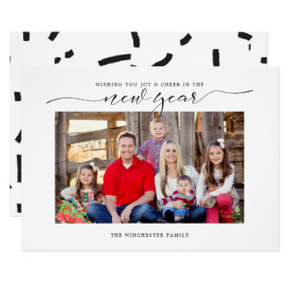Cheer In The New Year Holiday Card