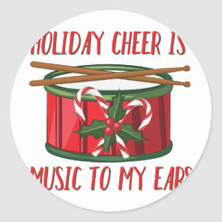 Cheer Is Music Round Sticker