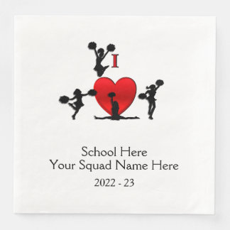 Cheer Leading Squad Event School Date Disposable Napkins