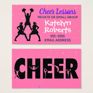 Cheer Lessons Pink Business Card