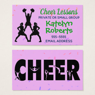 Cheer Lessons Purple Business Card