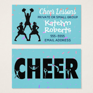 Cheer Lessons Turquoise Business Card