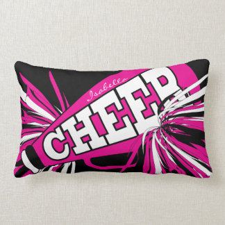Cheer Megaphone - Pink Cheerleader Lumbar Cushion