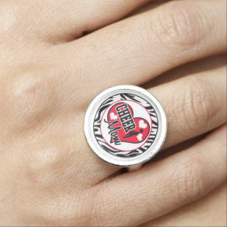 cheer mom ring customizeable