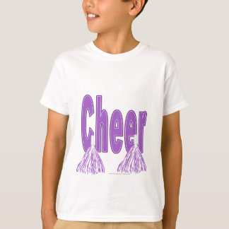 Cheer Purple Kids Tee