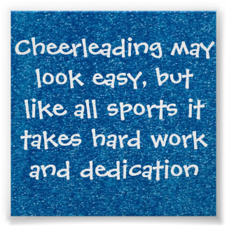 cheer quote poster