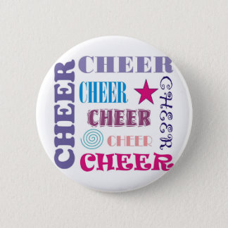 Cheer Repeating 6 Cm Round Badge