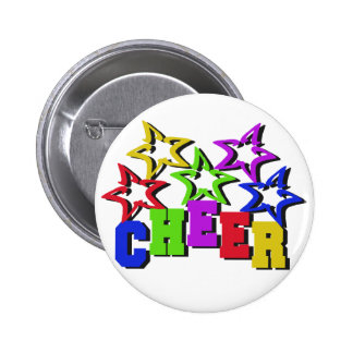 Cheer Stars 6 Cm Round Badge