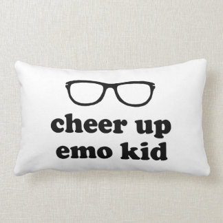 Cheer Up Emo Kid | Cute Hipster Glasses Cushion