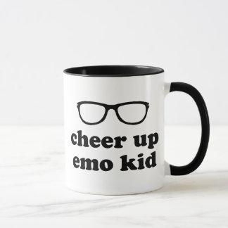 Cheer Up Emo Kid | Cute Hipster Glasses Mug