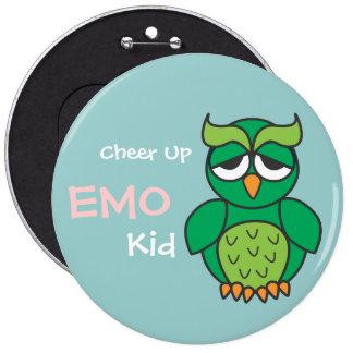 Cheer Up Emo Kid Owl 6 Cm Round Badge