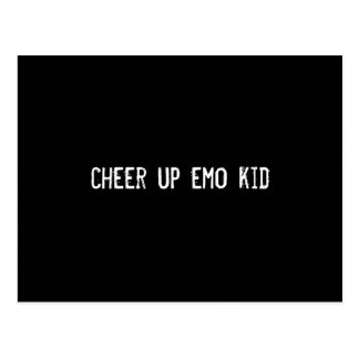 cheer up emo kid post cards