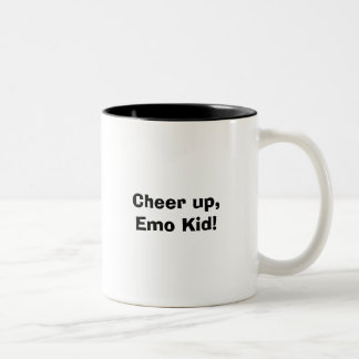Cheer up, Emo Kid! Two-Tone Mug