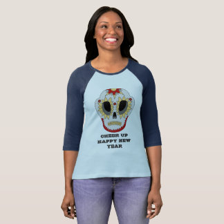 CHEER UP HAPPY NEW YEAR Sleeve Raglan T-Shirt