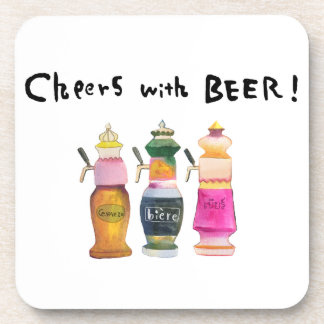 Cheer with beer! #4 drink coaster