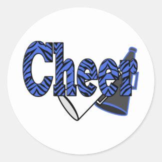 Cheer Zebra Style Classic Round Sticker