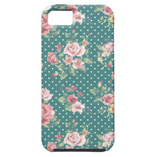 Cheerful adorable vintage retro roses iPhone 5 covers