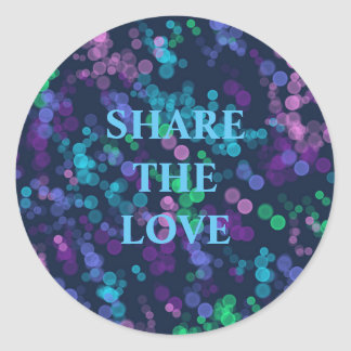 Cheerful Bubbles of Love Classic Round Sticker