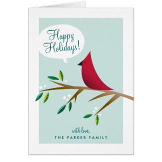 Cheerful Cardinal Folded Holiday Card