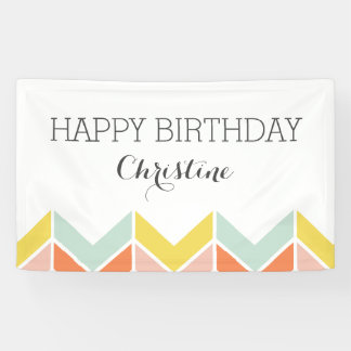 Cheerful Chevron Banner