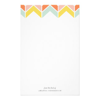 Cheerful Chevron Stationery