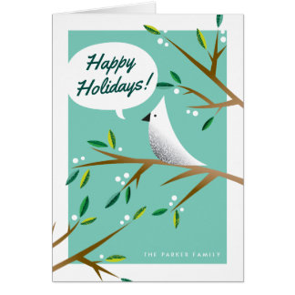 Cheerful Christmas Dove Folded Holiday Card