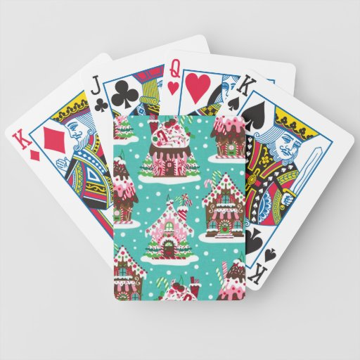 Cheerful Christmas gingerbread house Deck Of Cards