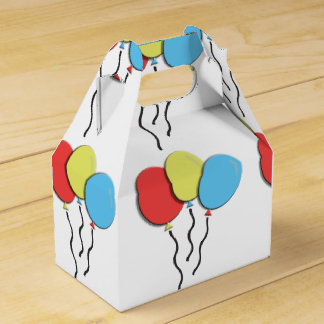 Cheerful Colorful Birthday Balloons Favour Box