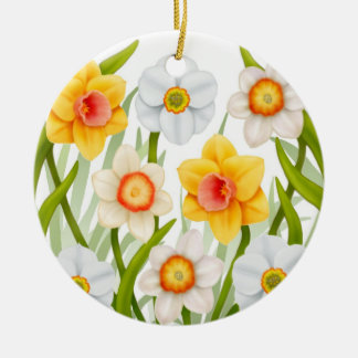 Cheerful Daffodils Ornament