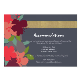 Cheerful Floral Personalised Accommodation Card 13 Cm X 18 Cm Invitation Card