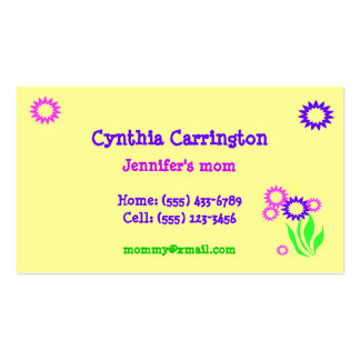 Cheerful Flowers Mommy Card Pack Of Standard Business Cards
