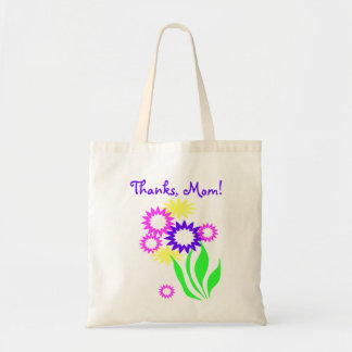 Cheerful Flowers Mothers Day Budget Tote Bag