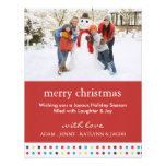 Cheerful & Fun Christmas Photo Card Personalised Announcement