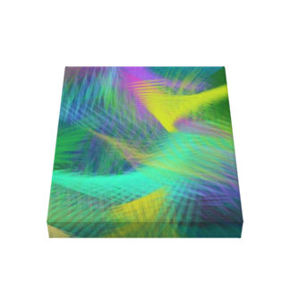 Cheerful Fun Color Abstract Stretched Canvas Prints