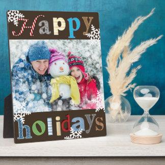 "Cheerful & Fun ""Happy Holidays"" Plaque"