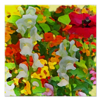 Cheerful Garden Colors Poster