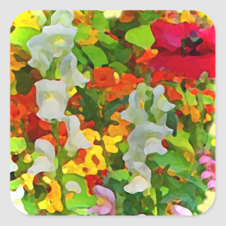 Cheerful Garden Colors Square Sticker