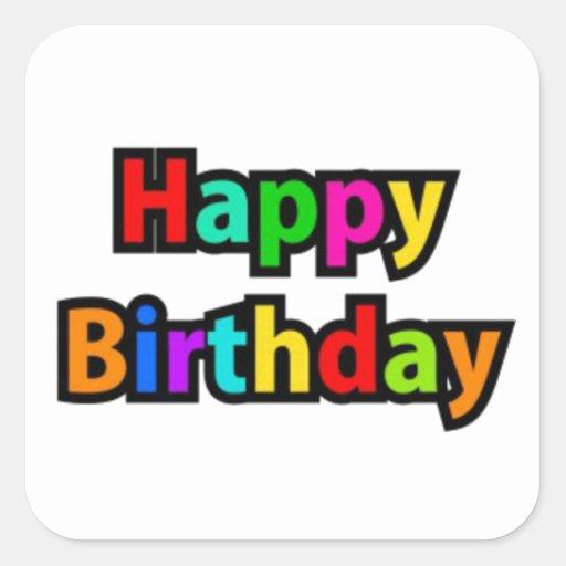 Cheerful Happy Birthday Text Sticker