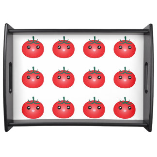 Cheerful Happy Red Tomato Serving Tray